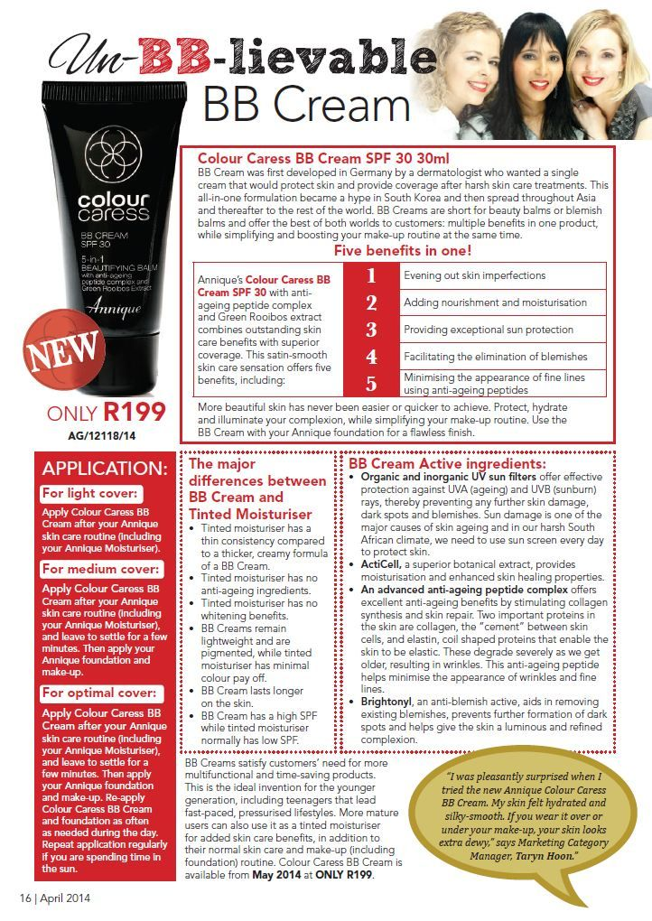 Get 5-in-1 coverage with the Annique Colour Caress BB Cream