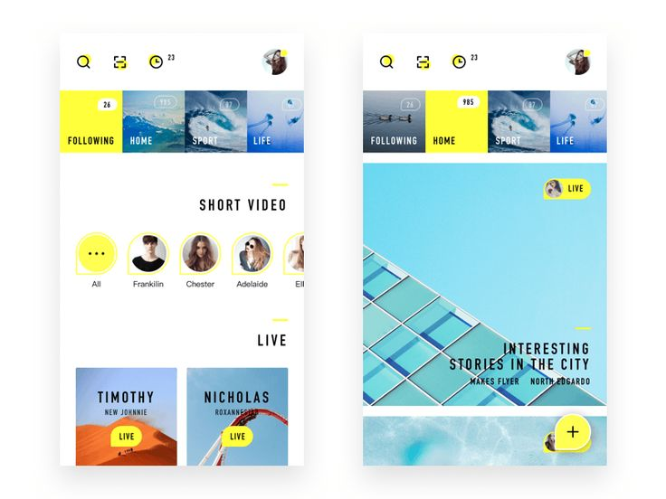 My Life Live App Design by Zhao Legs