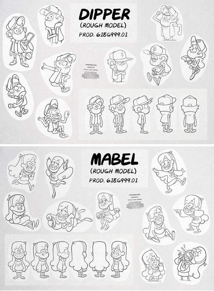 Character Designs de Gravity Falls, do Disney Channel | THECAB - The Concept Art Blog