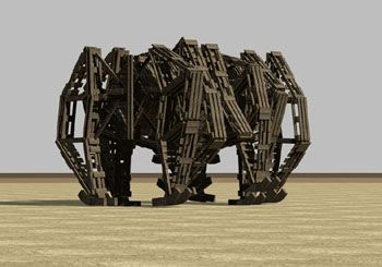 beach beast by Theo Janssen, dutch artist. These work of art beast move itself by wind. Amazing!!