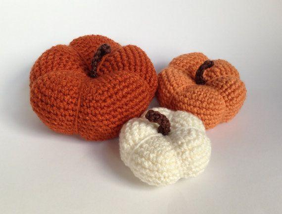 Crochet Pumpkin - Pumpkin - Halloween - Thanksgiving Decor - Holiday Decor - Photo Prop - Fall Decor on Etsy, $15.00