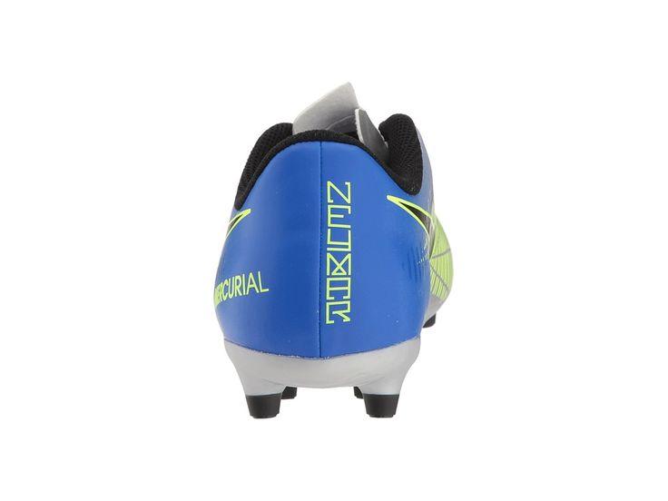Nike Kids Mercurial Vortex III Neymar Firm Ground Soccer Cleat (Toddler/Little Kid/Big Kid) Kids Shoes Racer Blue/Black/Chrome/Volt