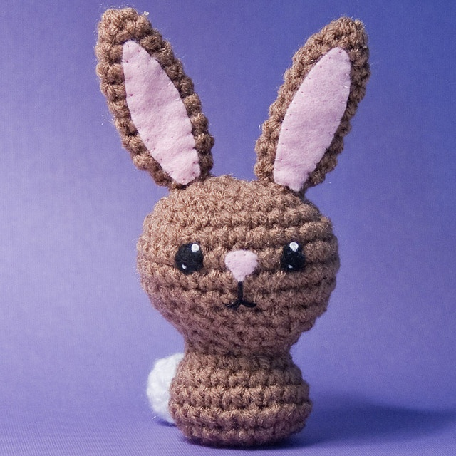 I want ALL of her patterns!  Cottontail Bunny by craftyalien, via Flickr
