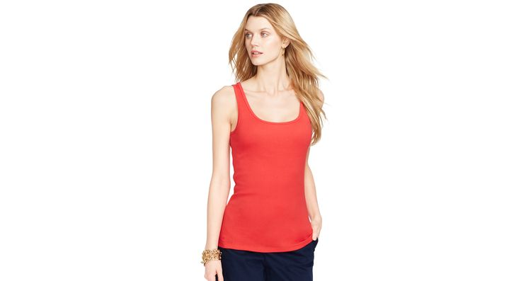 Lauren Ralph Lauren Petite Scoop-Neck Tank Top
