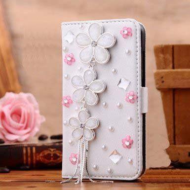 Bling Handgemachte Glitter Strass Perle Leder Flip Brieftasche Schutzhülle für iphone4 5 6 7 P SamsungS3 S4 S5 S6 S7 N2 N3 4 5 7