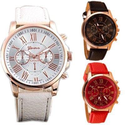 Женские Часы 2016 Новая Мода Розовое Золото Римские цифры Кожа Кварцевые Часы Мужчины Повседневная Бизнес Наручные Часы Relogio женщина для Часы