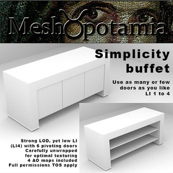 Meshopotamia Simplicity Buffet / Table w  AO textures