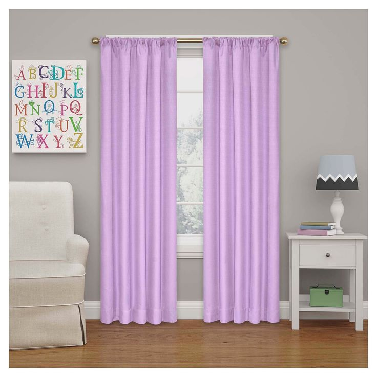 "Kendall Blackout Thermaback Curtain Panel Light Purple (42""x84"") - Eclipse My Scene"