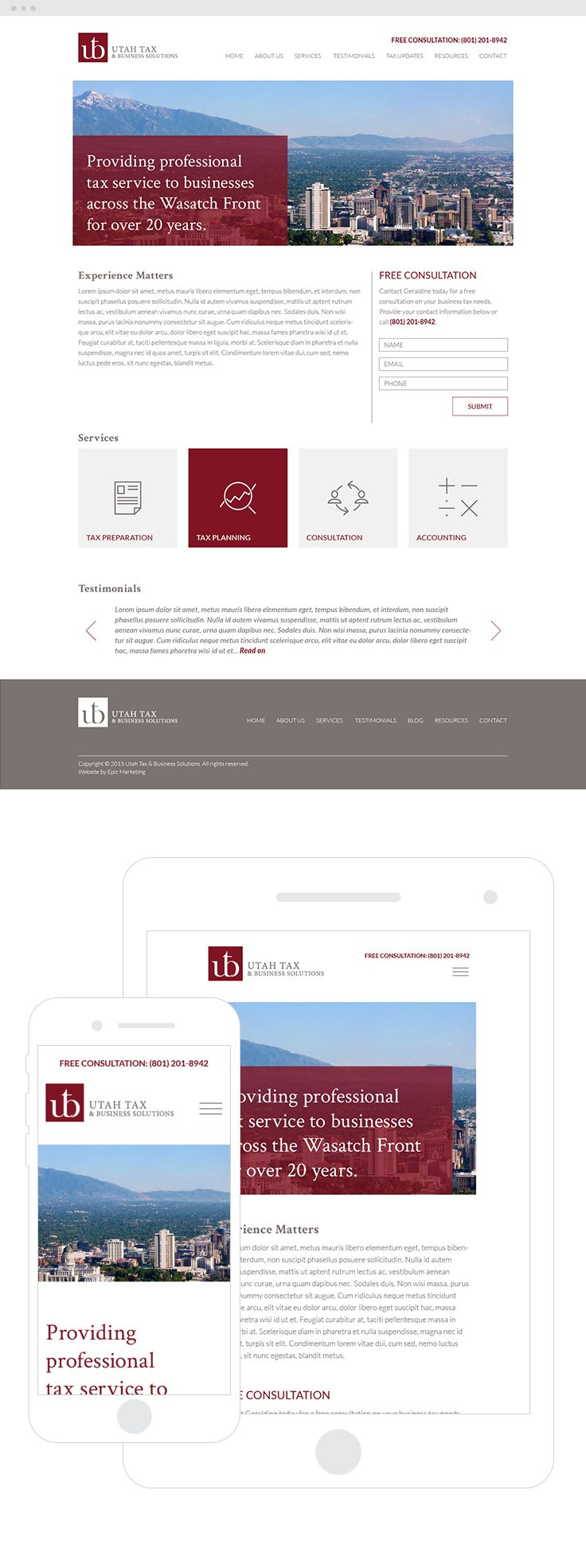 Utah Tax & Business Solutions Website Design & Development