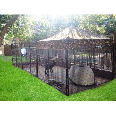 "Ultimate Expanded Metal Dog Kennel Color: Camouflage, Size: 72"" H x 72"" W x 288"" L - http://www.thepuppy.org/ultimate-expanded-metal-dog-kennel-color-camouflage-size-72-h-x-72-w-x-288-l/"
