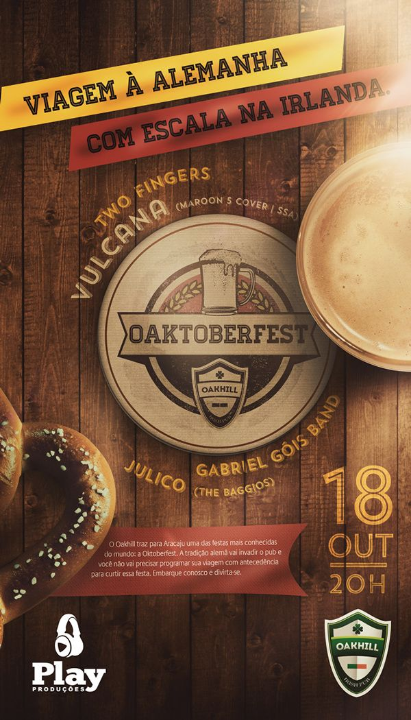 OAKHILL IRISH PUB // Oaktoberfest on Behance