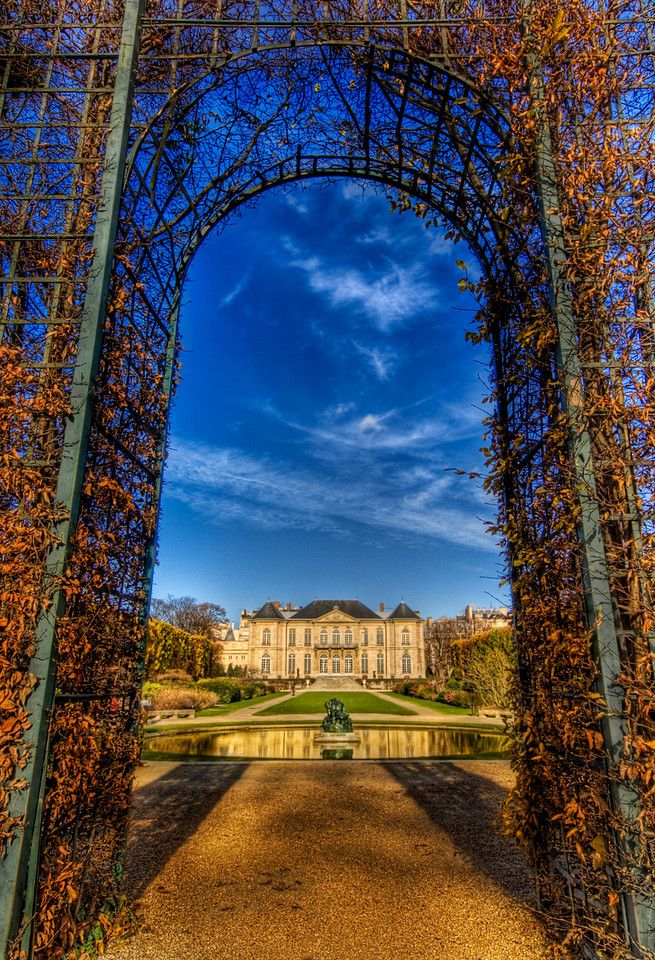 Parisian Blue Skies over the Rodin Chateau by Trey Ratcliff