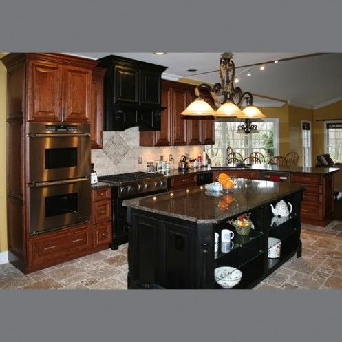 Wood Kitchen Cabinets With Distressed Finish