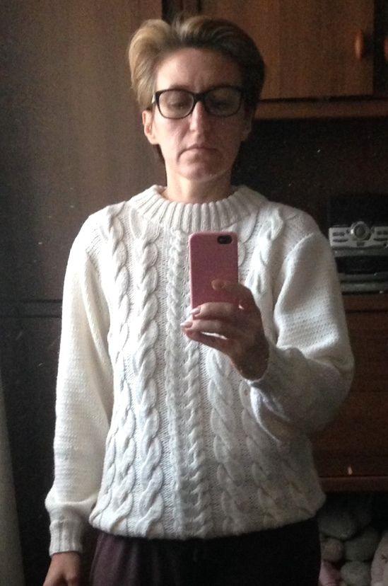 #свитер_вязаный_спицами# #Вязание_на_заказ# #Свитер_с_аранами# #модный_свитер#