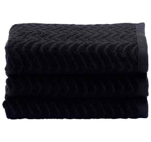 botex Carat badehåndklæde sort - Badeværelse - botex