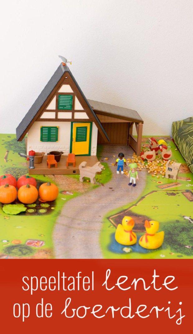 Speeltafel 'Lente' op de boerderij