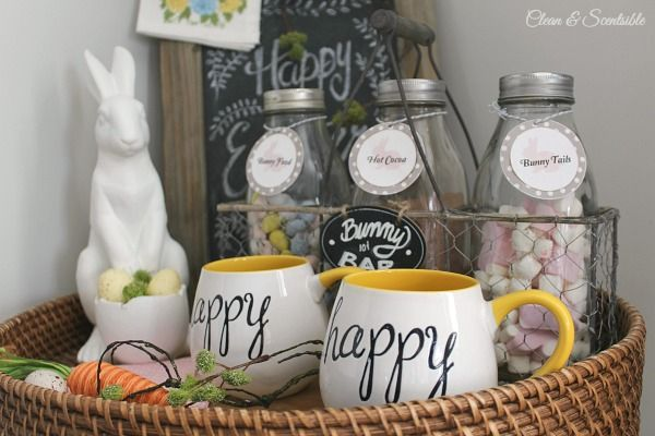 Beautiful Easter decor and spring decorating ideas.