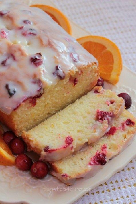 christmas gift orange canberry loaf cake