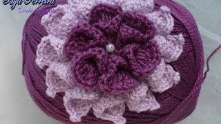 flor crochet paso a paso - YouTube