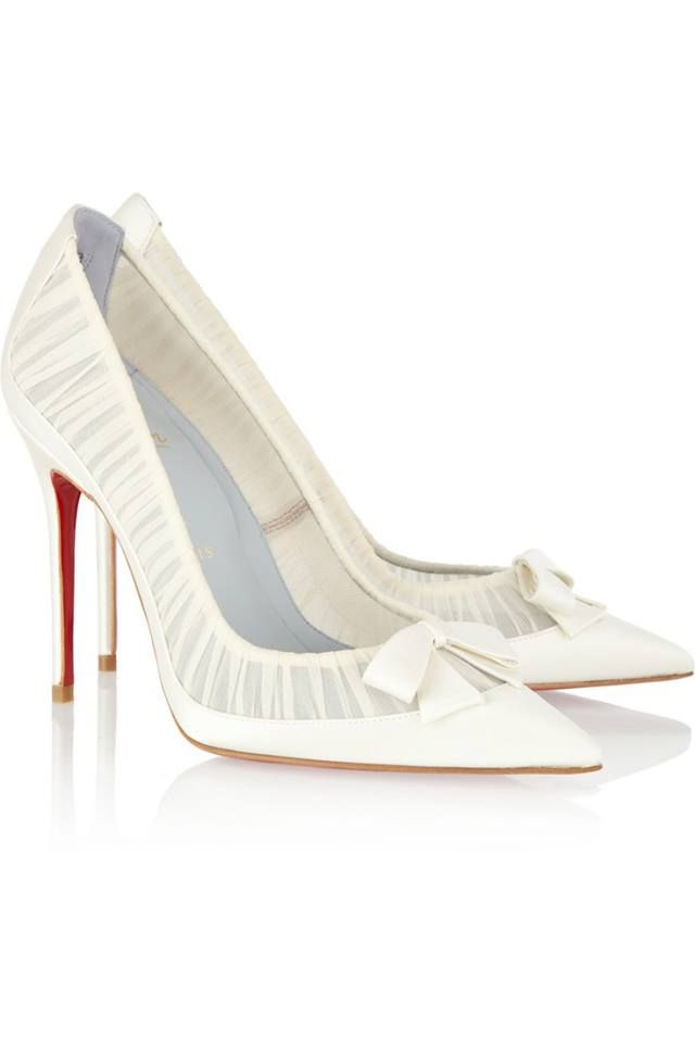 Christian Louboutin/Not a white shoe pump girl but these are cute;)