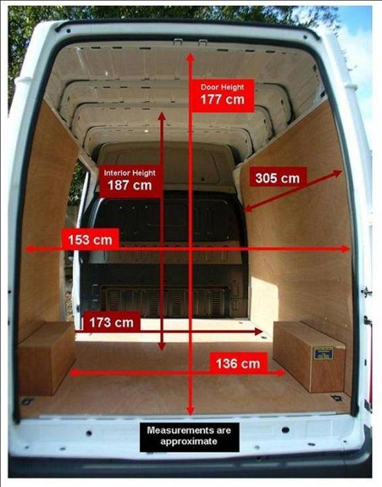 Mercedes Cargo Van >> lwb-dimensions-typomania.jpg (550×702) | Husbil | Pinterest | Husbil