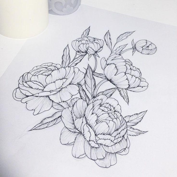 peony tattoo great drawings pinterest pfingstrosen tattoo pfingstrose und kamera tattoos. Black Bedroom Furniture Sets. Home Design Ideas