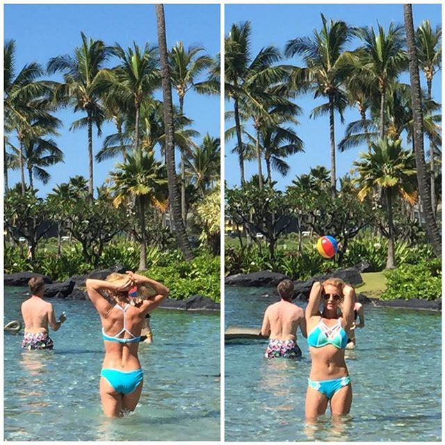 Pin for Later: 40 Times Britney Spears Worked Her Bikini Body, B*tch  She showed off some signature poses while soaking up the sun in a pool in Hawaii in March 2016.