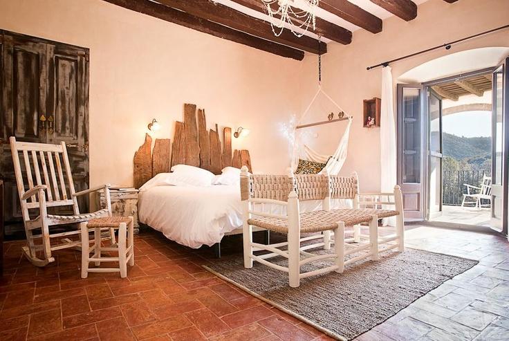 Mas Can Batlle, in Santa Pau, Catalunya (Spain). Chic rural suite.
