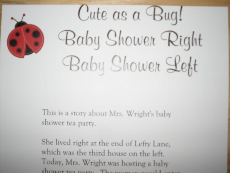 baby shower left baby shower right baby shower game ladybug baby