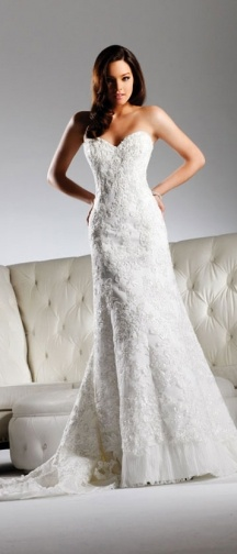 Jessica by David Tutera by Faviana.  Don't care for the hemline, but love the shape and the rest!