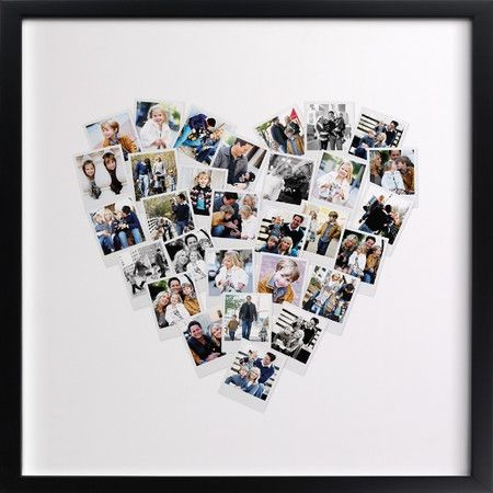 have a custom heart photo collage made many sizes available framed - Picture Collages