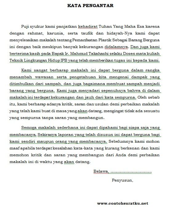 Download Contoh Kata Pengantar Terbaru dalam Bentuk MS Word