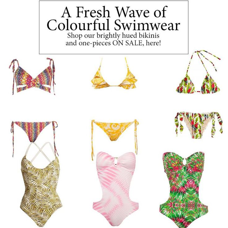 A fresh wave of COLOURFUL SWIMWEAR on SALE! The perfect holiday companion. Order yours today, get it by the weekend! #wecreateharmony #detailors #maaboo #swimwear #onepiece #bikini #swimsuit #bathingsuit  Shop the bathing suits here ▷ From Left to Right, Top to Bottom. Multi-coloured bikini: http://bit.ly/1J18TAS Yellow print bikini: http://bit.ly/1IBA1Fd Papagayo print bikini: http://bit.ly/1IGSJcg Bamboo palm one piece: http://bit.ly/1L3yyLx Pink-white one piece: http://bit.ly/1gvGAPP…