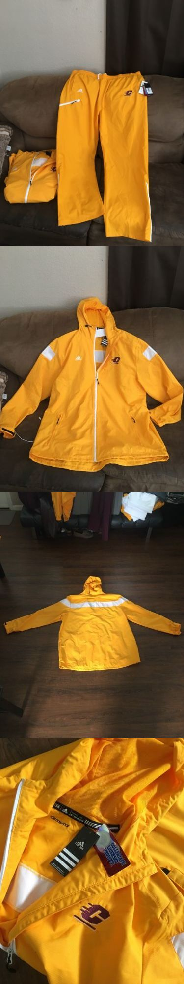 Outerwear 155195: Adult Adidas Track Suit Set 2Xl (Cmu) Central Michigan University-Adidas ! -> BUY IT NOW ONLY: $49.99 on eBay!