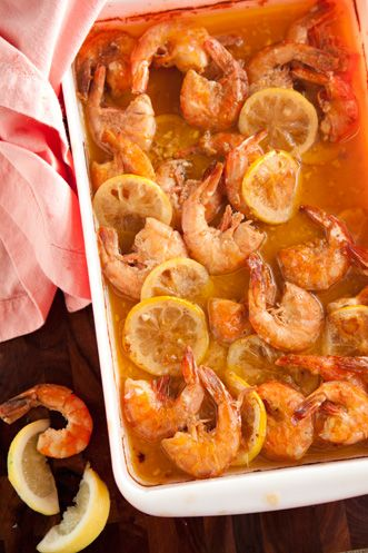 Paula Deen's Fiery Cajun Shrimp. Ingredients Add to grocery list 2 cups (4 sticks) melted butter 1/4 cup Worcestershire sauce 1/4 cup fresh lemon juice 2 tablespoons ground pepper 2 tablespoons hot sauce (recommended: Texas Pete) 4 cloves garlic, minced 2 teaspoons salt 5 pounds unpeeled medium shrimp 2 lemons, thinly sliced French bread, for dipping