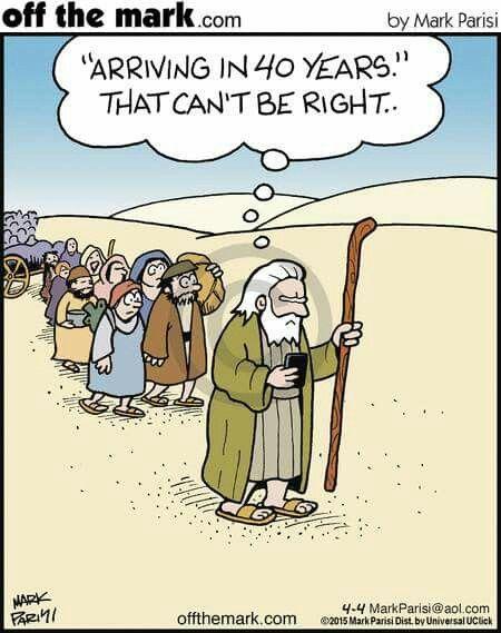 GPS error, Christian humor
