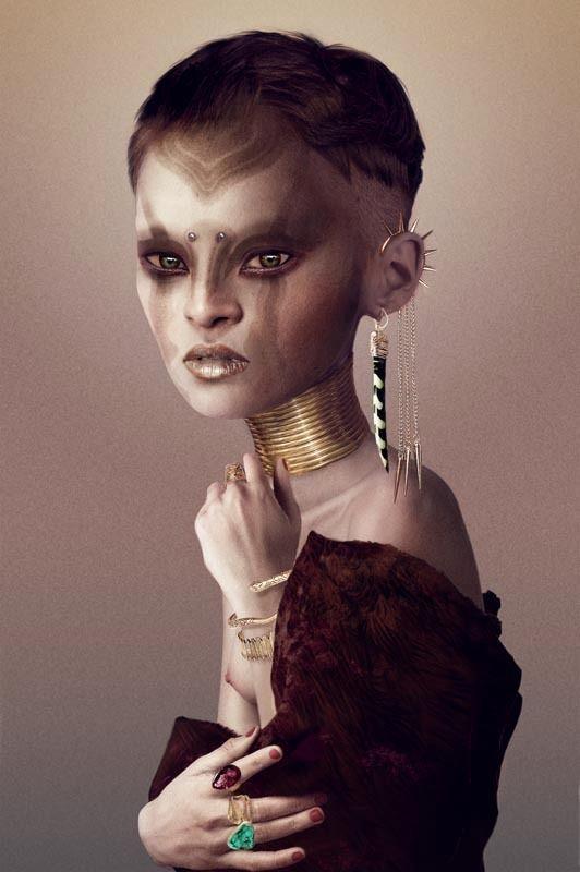 AFRICAN GIRL by Felipe Bedoya, via Behance
