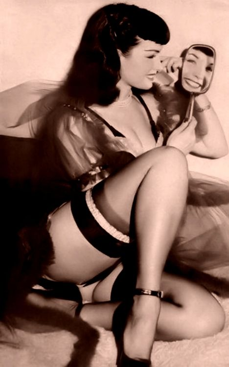 1) Wonder Where The Yellow Went  2) Mirror, Mirror - Who's The Fairest of Them All ?  Bettie Page