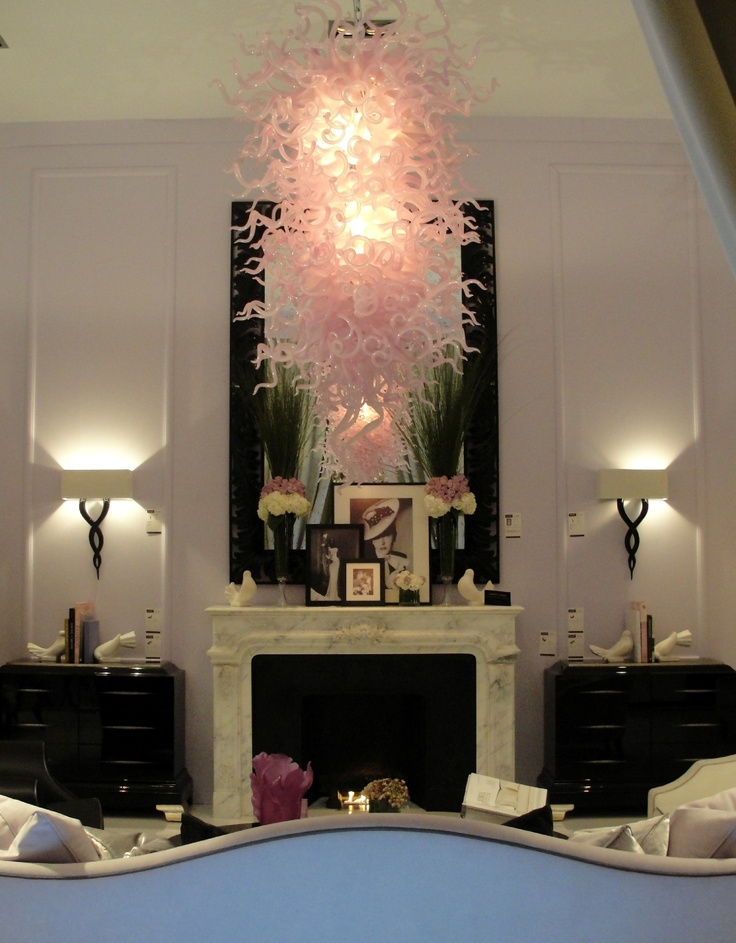 Pink Chihuly chandelier