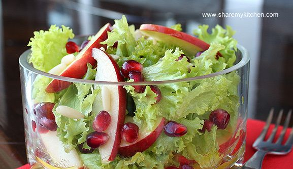 Apple, Lettuce, Pomegranate Salad | a lifetime on the hips - | Pinter ...
