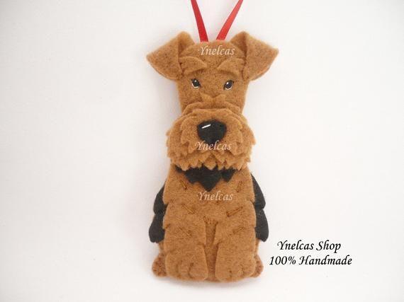 Welsh Terrier Dog Felt Christmas