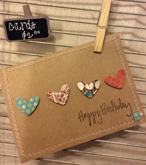 Homemade Birthday Card by McCartyOriginals on Etsy