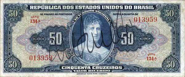 50 Крузейро (1943) Бразилия (Brazil) Южная Америка