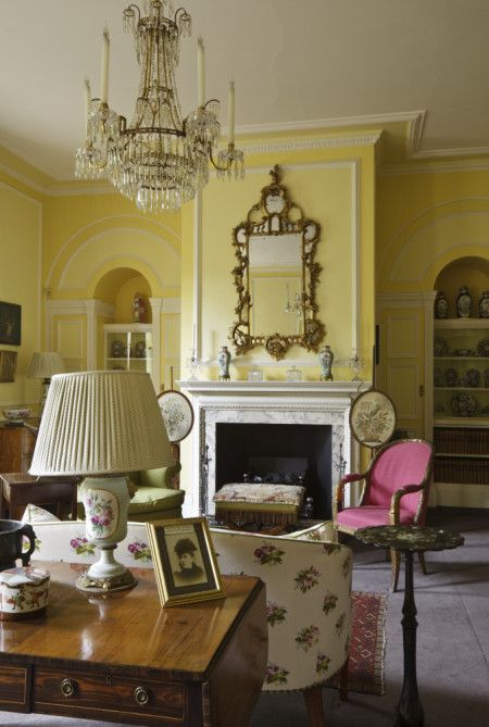 House Room Drawings: The Drawing Room At Fenton House, As Redecorated By John