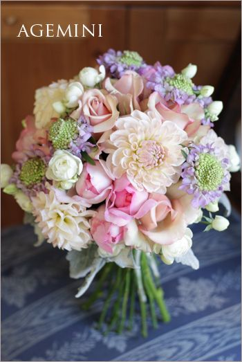 スカビオサのブーケ。 |Scabiosa wedding bouquet|AGEMINI