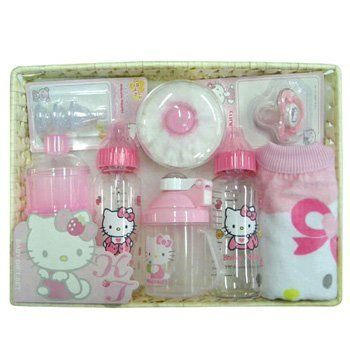 new hello kitty baby bottles gift set bpa free by sanrio. Black Bedroom Furniture Sets. Home Design Ideas