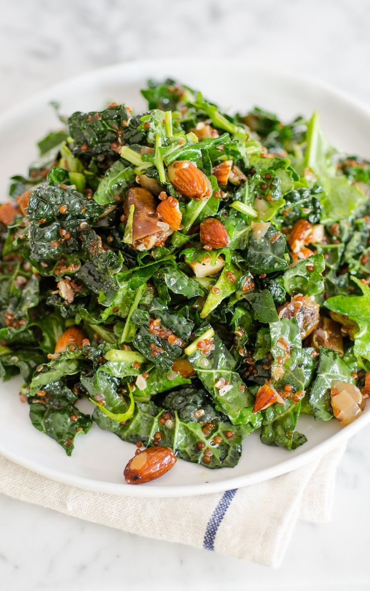 recipe kale amp quinoa salad with dates almonds amp citrus dressing ...