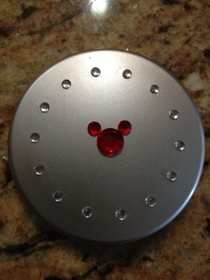 Fish extender gift for teens. Dollar Store compact with Mickey gem sticker.