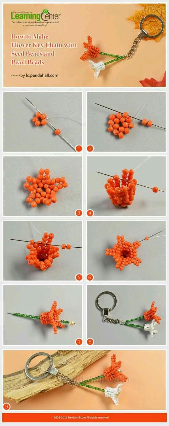 flower picture tute ~ Seed Bead Tutorials