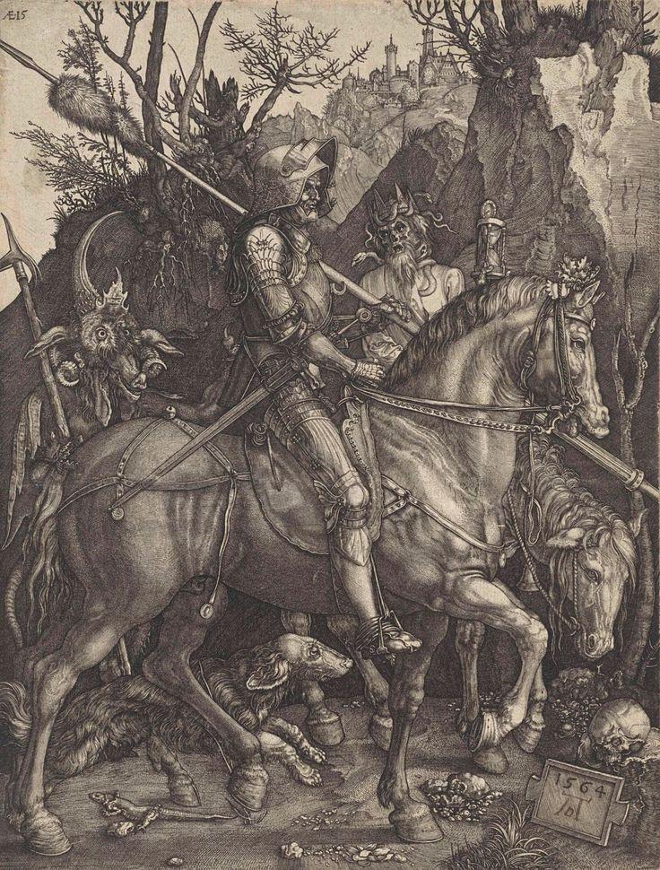 The Knight, Death and the Devil, 1564 ~ by Johannes Wierix, after Albrecht Dürer